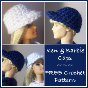 Ken and Barbie Caps by CrochetN'Crafts
