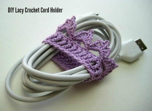 Lacy Crochet Cord Holders ~ CraftBits