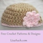 Easy Baby Beanie ~ Free Crochet Patterns and Designs by Lisa Auch