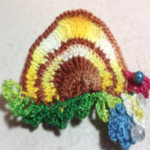 A Busy Beehive Decoration or Pin/Pendant ~ SheilaSchnauzies