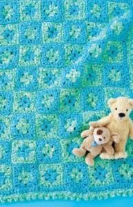 Crochet Baby Play Mat ~ Glenda Winkleman - Red Heart