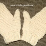 Crochet Adult Mittens ~ Crochet Jewel