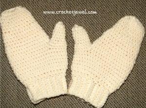 Crochet Adult Mittens ~ Crochet Jewel