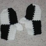 Black & White Mittens ~ Donna's Crochet Designs