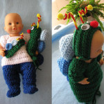 12-inch Baby Doll Everyday Outfit & Caterpillar Costume by Donna's Crochet Designs