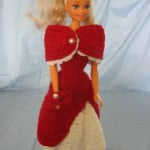 1950's Style Dress With Stole For Barbie by Donna's Crochet Designs