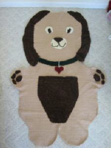 Cuddle Dog Afghan ~ Donna's Crochet Designs