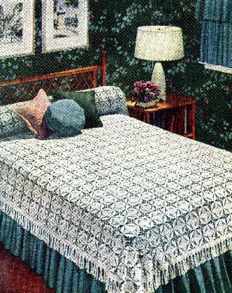 California Modern Bedspread (Vintage) by Donna's Crochet Designs