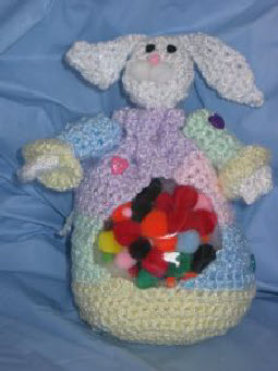 Bunny Treat Bag by Donna's Crochet Designs