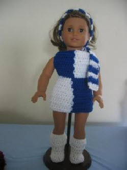 1960's Retro Outfit for American Girl Size Doll by Donna's Crochet Designs