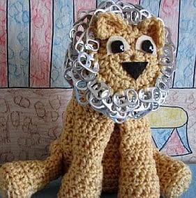 Pop Tab Lion ~ Donna's Crochet Designs