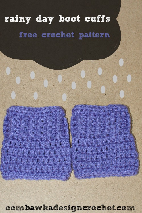 Rainy Day Boot Cuffs by Oombawka Design