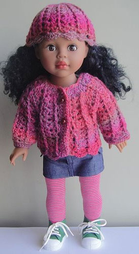 "18"" Sausalito Crochet Shell Stitch Doll Set by Gail Tanquary from Crystal Palace Yarns"