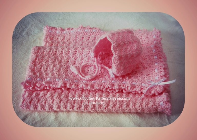 Crochet Baby Blanket in Shell Stitch by Free Crochet Patterns and Designs by Lisa Auch