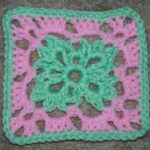 Six Inch Easter Afghan Square ~ Crochet 'N' More