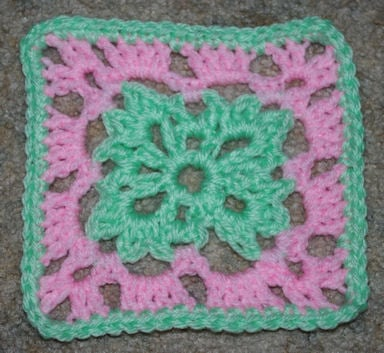 Six Inch Easter Afghan Square - Crochet 'N' More