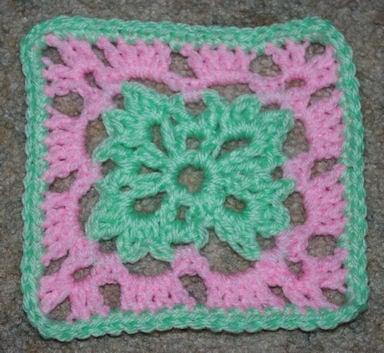 Six Inch Easter Afghan Square - Crochet 'N' More