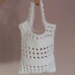 Small Beginner Crochet Bag by CrochetN'Crafts