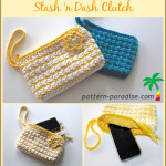 Stash 'n Dash Clutch ~ Pattern Paradise