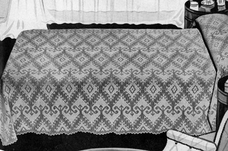 Heirloom Bedspread by Free Vintage Crochet