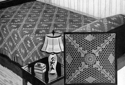 Waltz Time Bedspread by Free Vintage Crochet