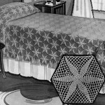 Radiant Star Bedspread by Free Vintage Crochet