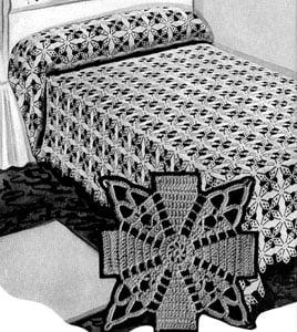 Jenny Lind Bedspread by Free Vintage Crochet