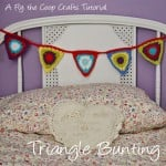 Triangle Bunting Tutorial ~ Fly the Coop Crafts