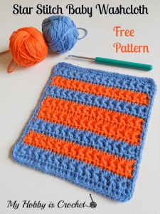 Crochet Star Stitch Variation - Baby Washcloth, Dishcloth & Blanket