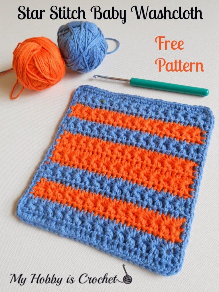 Crochet Star Stitch Variation - Baby Washcloth, Dishcloth & Blanket