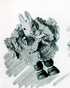 Bunny Rattle ~ Free Vintage Crochet