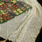 Mesh Diamond Afghan by Free Vintage Crochet