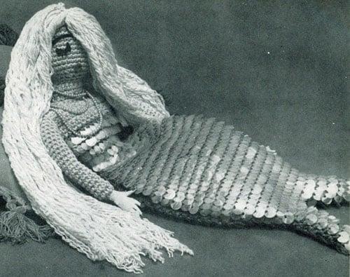 Mermaid Pajama Bag by Free Vintage Crochet