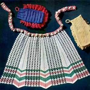 Crocheted Apron by Free Vintage Crochet