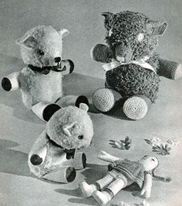 Crocheted Teddy Bears by Free Vintage Crochet