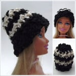 Striped Barbie Beanie ~ CrochetN'Crafts