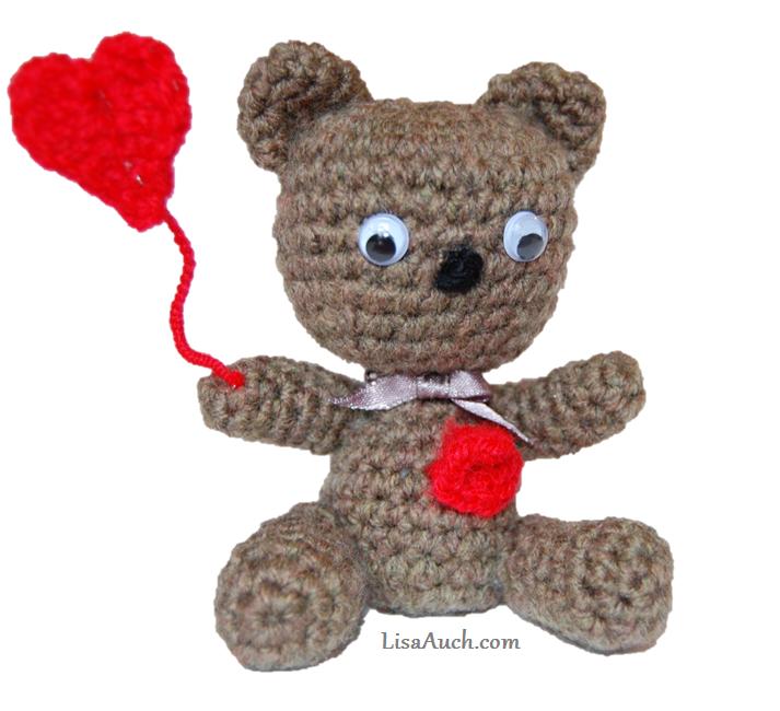 Crochet Tiny Amigurumi Teddy Bear ~ Free Crochet Patterns and Designs by Lisa Auch