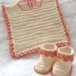 Bib and Booties ~ Patterns For Crochet