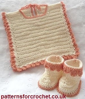 Bib and Booties by Patterns For Crochet