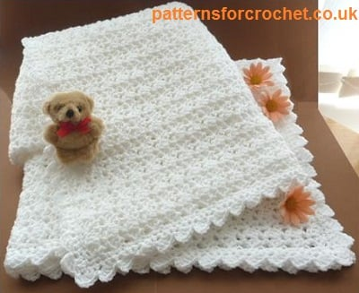Crochet Shawl Patterns For Babies : A Baby Shawl ~ FREE Crochet Pattern
