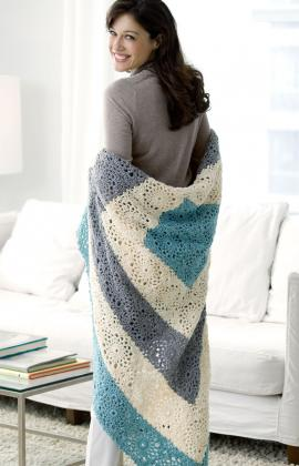 Square Upon Square Throw by Katherine Eng for Red Heart