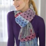 Shaded Shells Crochet Scarf – Katherine Eng – Red Heart