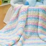 Diamond Blanket for Baby ~ Sara Delaney – Red Heart