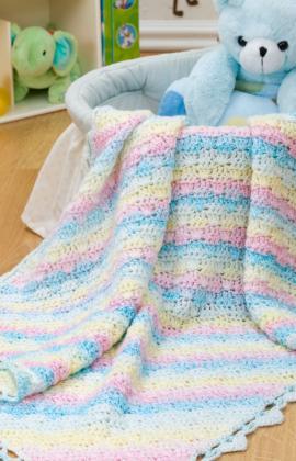 Diamond Blanket for Baby ~ Sara Delaney - Red Heart