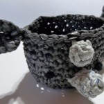 Plarn Rhino Bowl ~ Sheep of Delight