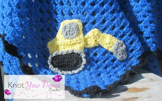 Digger Applique by Knot Your Nana's Crochet