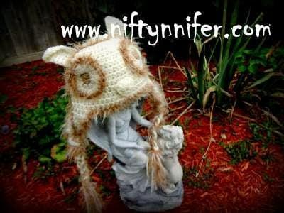 Owl Hat by Jennifer Gregory - Niftynnifer's Crochet & Crafts