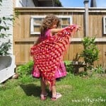 Cute Red Dragon Shawl ~ Jennifer Gregory - Niftynnifer's Crochet & Crafts