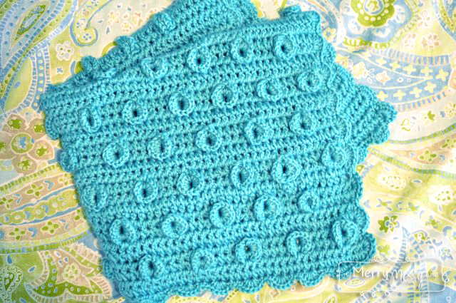 Crochet Lily Pad Baby Blanket by My Merry Messy Life