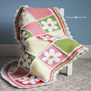 Crochet Daisy Afghan ~ Repeat Crafter Me